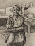 Fine Art - Work on Paper:Drawing, DAVID FREDENTHAL (American, 1914-1958). Woman in a Kitchen.Graphite on paper. 16-1/2 x 12-1/2 inches (41.9 x 31.8 cm) w...
