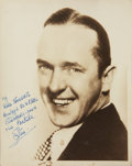 Movie/TV Memorabilia:Autographs and Signed Items, Stan Laurel Signed Photo....