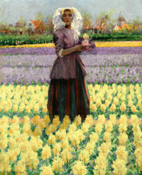 The Hon. Paul H. Buchanan, Jr. Collection  GEORGE HITCHCOCK (American, 1850-1913) Woman in a Field of Hya