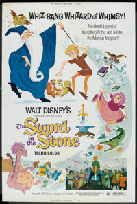 """The Sword in the Stone Lot (Buena Vista, R-1973). Posters (5 ) (40"""" X 60""""). Animated. ... (Total: 5 Items)"""