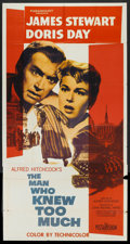 "Movie Posters:Hitchcock, The Man Who Knew Too Much (Paramount, 1956). Three Sheet (41"" X 81""). Hitchcock.. ..."