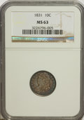 Bust Dimes: , 1831 10C MS63 NGC. NGC Census: (38/81). PCGS Population (43/59).Mintage: 771,350. Numismedia Wsl. Price for NGC/PCGS coin ...
