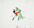 Animation Art:Production Cel, Filmation Superhero Animation Production Cel and Clean-Up DrawingOriginal Art, Group of 6 (Filmation, 1967-79).... (Total: 6 Items)