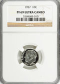 Proof Roosevelt Dimes: , 1957 10C PR69 Ultra Cameo NGC. NGC Census: (14/0). PCGS Population(3/0). Numismedia Wsl. Price for NGC/PCGS coin in PR69:...