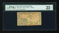 Colonial Notes:New Jersey, New Jersey April 16, 1764 £3 PMG Very Fine 25 Net....