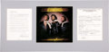 Music Memorabilia:Autographs and Signed Items, Bee Gees Band Signed Contract....