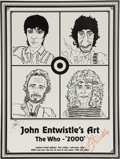 Music Memorabilia:Autographs and Signed Items, The Who Related - John Entwistle Signed Poster....