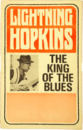 Music Memorabilia:Posters, Lighting Hopkins Generic Concert Poster (c. 1960s)....