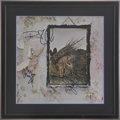Music Memorabilia:Autographs and Signed Items, Led Zeppelin Band Signed Album Cover....