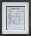 Music Memorabilia:Autographs and Signed Items, Rolling Stones Band-Signed Set List....