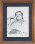 Music Memorabilia:Original Art, Rolling Stones Related - Bobby Keys Sketch by Ron Wood....
