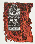 Music Memorabilia:Posters, Grateful Dead Anniversary Party Old Cheese Factory ConcertHandbill (1966)....