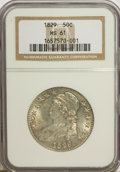 Bust Half Dollars: , 1829 50C Small Letters MS61 NGC. NGC Census: (39/222). PCGSPopulation (14/186). Mintage: 3,712,156. Numismedia Wsl. Price ...