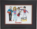 Music Memorabilia:Original Art, The Who Generations Original Artwork by John Entwistle.... (Total: 2 Items)