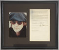 Music Memorabilia:Autographs and Signed Items, Beatles Related - John Lennon Signed Publishing Agreement....