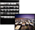 Music Memorabilia:Photos, Storm Thorgerson Pink Floyd A Momentary Lapse of ReasonAlbum Cover Photo and Contact Sheet (1987).... (Total: 3 Items)
