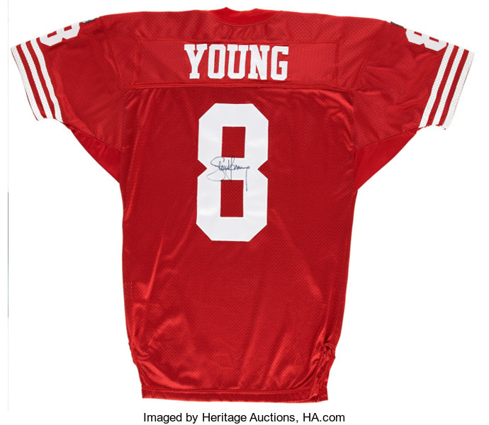 huge selection of d41e5 8c2c5 Steve Young Signed Jersey. ... Football Collectibles ...