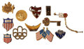 Movie/TV Memorabilia:Memorabilia, Bing Crosby's Assorted Pins.... (Total: 12 Items)
