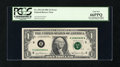 Error Notes:Ink Smears, Fr. 1911-H $1 1981 Federal Reserve Note. PCGS Gem New 66PPQ.. ...