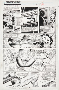 Dave Cockrum and Jeff Albrecht Punisher Bloodlines page 28 Original Art (Marvel, 1991)