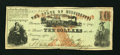 Obsoletes By State:Mississippi, (Jackson, MS)- State of Mississippi $10 July 1, 1862. ...
