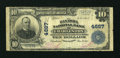 National Bank Notes:West Virginia, Charleston, WV - $10 1902 Plain Back Fr. 628 The Kanawha NB Ch. #4667. ...