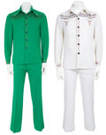 Music Memorabilia:Costumes, Elvis Presley Related - J.D. Sumner Stage-Worn Polyester Suits.... (Total: 2 Items)