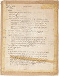 Movie/TV Memorabilia:Memorabilia, Claude Rains' Annotated Reading Script for Lincoln PortraitRecording. ...