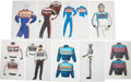Movie/TV Memorabilia:Original Art, Days of Thunder Costume Sketches by Susan Becker.... (Total:9 Items)