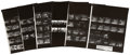 Music Memorabilia:Photos, The Beatles Ed Sullivan Show Vintage Contact Sheets....(Total: 5 Items)