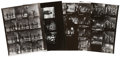 Music Memorabilia:Photos, The Beatles Ed Sullivan Show Vintage Contact Sheets....(Total: 4 Items)