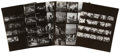 Music Memorabilia:Photos, The Beatles Vintage Ed Sullivan Show Contact Sheets.... (Total: 4Items)