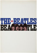 Music Memorabilia:Memorabilia, The Beatles 1966 Japanese Tour Book....