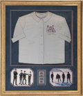 Music Memorabilia:Autographs and Signed Items, Beatles Band Signed Shirt....