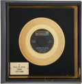 "Music Memorabilia:Awards, Grass Roots ""Sooner or Later"" Gold Single Award...."