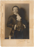 Movie/TV Memorabilia:Autographs and Signed Items, Claude Rains Signed Photograph from 1925....
