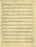 "Music Memorabilia:Sheet Music, Duke Ellington ""You're the Top"" Handwritten Score. ..."