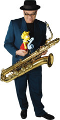 Movie/TV Memorabilia:Memorabilia, Lisa Simpson Saxophone with RIAA Platinum Album Presentation....(Total: 2 Items)