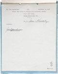 Movie/TV Memorabilia:Autographs and Signed Items, Desi Arnaz Signed Original I Love Lucy Contract. ...