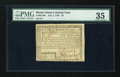 Colonial Notes:Rhode Island, Rhode Island July 2, 1780 $5 PMG Choice Very Fine 35....