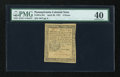 Colonial Notes:Pennsylvania, Pennsylvania April 20, 1781 3d PMG Extremely Fine 40....