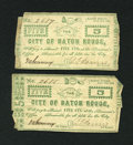 Obsoletes By State:Louisiana, Baton Rouge, LA- City of Baton Rouge 5¢ June 18, 1862. Two Consecutive Examples.. ... (Total: 2 notes)