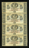 Obsoletes By State:Louisiana, New Orleans, LA- Citizens' Bank of Louisiana $5-$5-$5-$5 Two Uncut Sheets. ... (Total: 2 sheets)