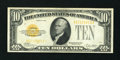 Small Size:Gold Certificates, Fr. 2400 $10 1928 Gold Certificate. Extremely Fine-About Uncirculated.. ...