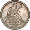 Proof Seated Dimes, 1837 10C Large Date, No Stars PR64 PCGS....
