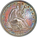 Seated Half Dollars, 1846 50C Tall Date MS63 PCGS....