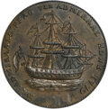 Colonials, 1778-1779 TOKEN Rhode Island Ship Token, No Wreath, Copper MS62Brown PCGS....