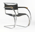 Furniture : Continental, LUDWIG MIES VAN DER ROHE FOR GEBRÜDER THONET. A Chromium PlatedSteel and Canvas Armchair, model MR-534, circa 1927. 30 x 22...