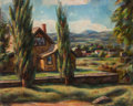Fine Art - Painting, American:Modern  (1900 1949)  , HENRY LEE MCFEE (American, 1886-1953). Landscape. Oil oncanvas. 24-1/2 x 30-1/2 inches (62.2 x 77.5 cm). ...