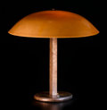 Lighting:Lamps, WALTER VON NESSEN. A Glass and Patinated Metal Desk Lamp, circa 1925. 16 x 16 inches (40.6 x 40.6 cm). ...
